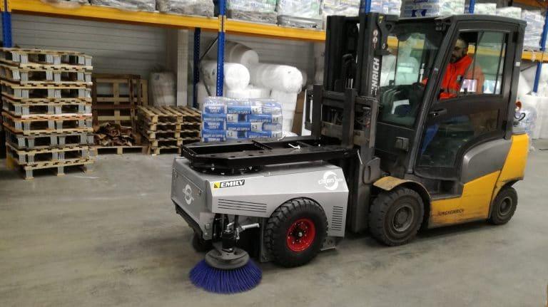 Balayeuse industrielle ramasseuse sans connexion Clean'Box