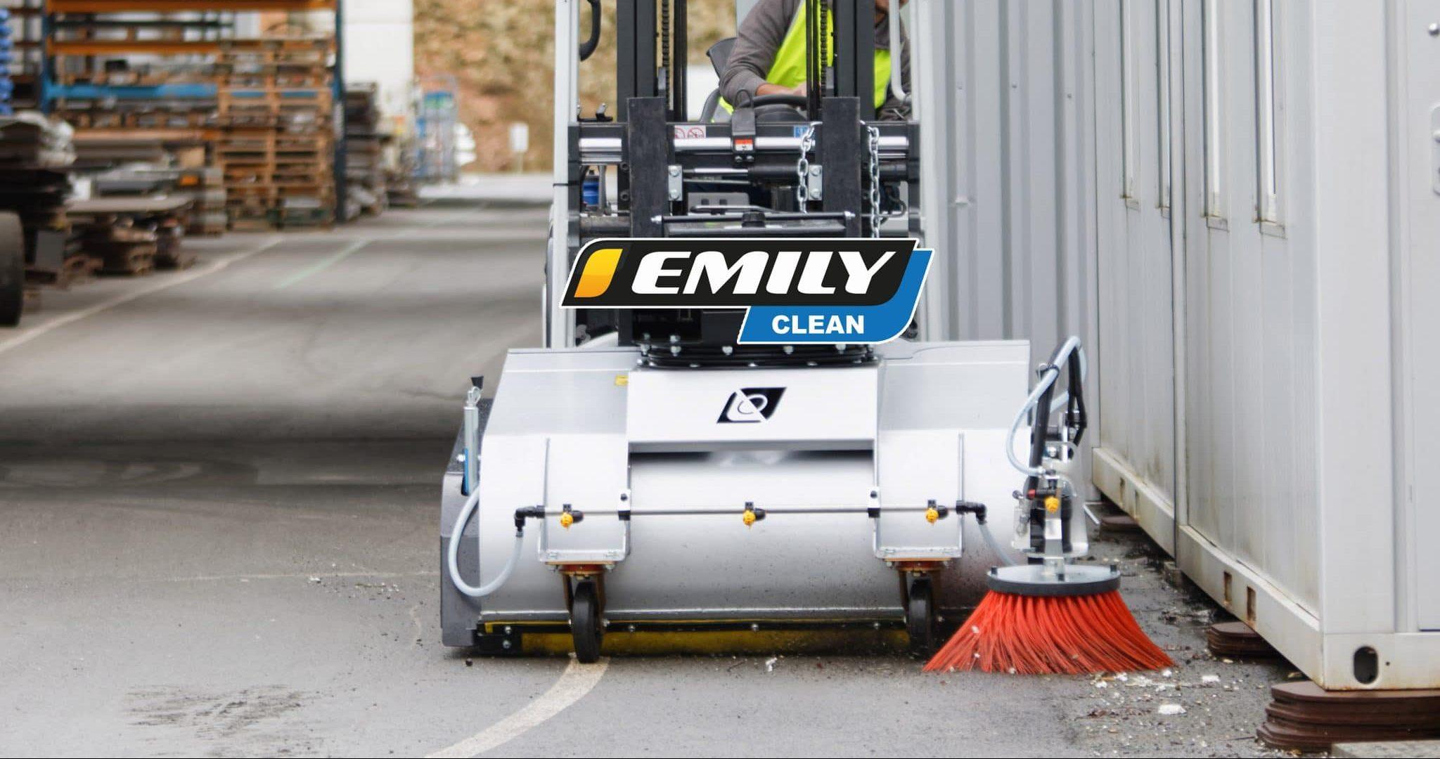 Balayeuse industrielle ramasseuse Emily Clean